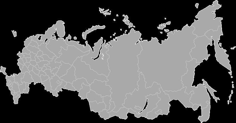 карта россии серая